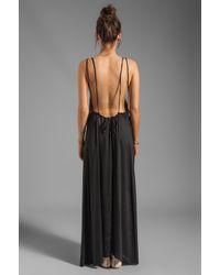 Acacia Swimwear Hana Backless Maxi Dress in Black