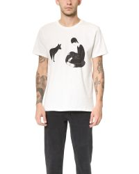Maison Kitsuné White Moonassi Pray Tee for men