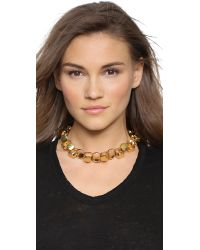 Lulu Frost | Metallic Signet Necklace - Gold | Lyst