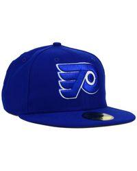 KTZ | Blue Philadelphia Flyers C-dub 59fifty Cap for Men | Lyst