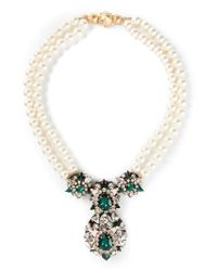 Shourouk | White 'swan' Necklace | Lyst