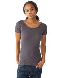 Alternative Apparel - Gray Organic Scoop Neck T-Shirt - Lyst
