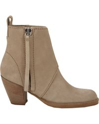 Acne Studios - Natural Pistol Ankle Boots - Lyst