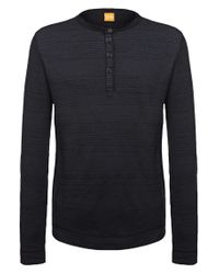 BOSS Orange | Black Fashion Fit Long-sleeved Shirt 'tompkins' In Cotton Blend for Men | Lyst