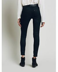Free People - Black Womens Jillian Seamed Skinny - Lyst