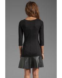 Bailey 44 Spin Doctor Drop Waist Dress in Black
