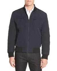 Michael Kors | Blue Diamond Quilted Zip Front Jacket for Men | Lyst