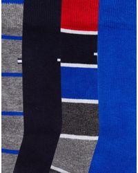Tommy Hilfiger - Multicolor 4 Pack Socks In Gift Box for Men - Lyst