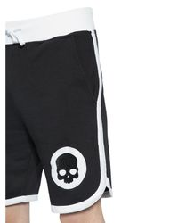 Hydrogen - Black Hockey Cotton Jogging Shorts W/ Patches for Men - Lyst