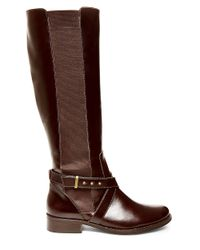 Steven by Steve Madden - Brown Sydnee Knee-high Leather Boots - Wide Calf - Lyst
