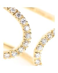 Roberto Marroni - Metallic 18kt Yellow Gold Ring With White Diamonds - Lyst