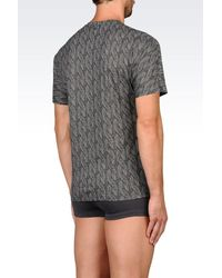 Emporio Armani - Gray Short-sleeve T-shirt for Men - Lyst