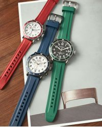 Shinola - Red 42mm Runwell Sport Chronograph Watch With Rubber Strap - Lyst