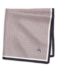 Brooks Brothers - Blue Minicheck Pocket Square for Men - Lyst