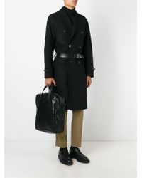 Giorgio Armani Black Laptop Bag for men