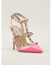 valentino pink rockstud pumps