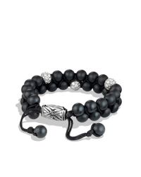 David Yurman | Spiritual Beads Tworow Bracelet with Black Onyx and Diamonds for Men | Lyst