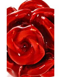 Alison Lou - Red Rose Stack Ring - Lyst