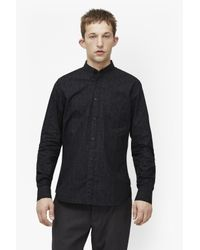 French Connection - Black Bamboo Cotton Brosnan Shirt for Men - Lyst