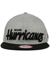 KTZ Gray Miami Hurricanes Script It 9Fifty Snapback Cap