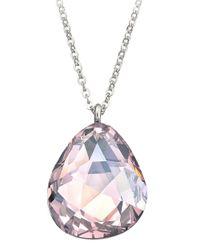 Swarovski Metallic Helios Rosaline Moonlight Crystal Pendant Necklace
