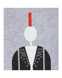Burberry Brit - Gray Printed Cotton T-shirt - Lyst