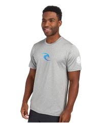 Rip Curl | Gray Corp Short Sleeve Surf Shirt for Men | Lyst