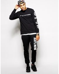 Aape Black By A Bathing Ape Joggers With Now Print