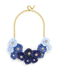 BaubleBar - Blue 'rosetta' Floral Bib Necklace - Lyst