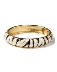 Banana Republic - Metallic Zebra Bracelet  - Lyst