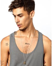 Love Bullets - Metallic Skool Of Jenius By Lovebullets Tetrahedron Necklace Exclusive To Asos for Men - Lyst