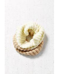 BDG - White Fuzzy Funnel Scarf - Lyst