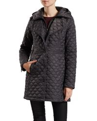 Dawn Levy | Gray Hooded Jacket With Zip Buttons | Lyst