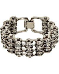 Mawi - Metallic Crystal Triple Link Bike Chain Bracelet - Lyst