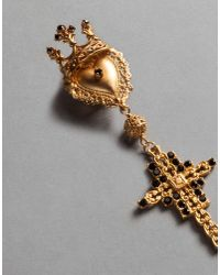 Dolce & Gabbana | Metallic Crown And Cross Earrings | Lyst