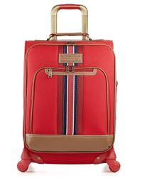 "Tommy Hilfiger | Red Tommy Hilfiger Santa Monica 21"" Carry On Expandable Spinner Suitcase 