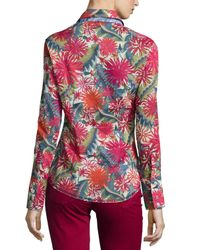 Georg Roth Los Angeles - Red Ella Liberty Floral-print Blouse - Lyst