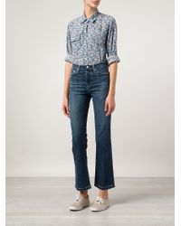 Current/Elliott | Blue 'Sophia' Floral Print Shirt | Lyst