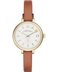 Marc Jacobs - Metallic Mbm1351 Sally Gold-plated And Leather Watch - Lyst