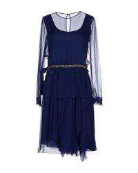Alberta Ferretti - Blue Knee-length Dress - Lyst