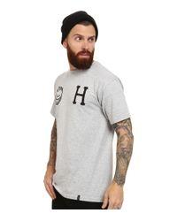 Huf | Gray X Spitfire Logo Tee for Men | Lyst