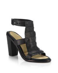 Rag & Bone Black Deane Studded Leather Sandals