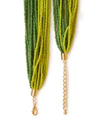 Forever 21 - Green Well Traveled Beaded Necklace - Lyst