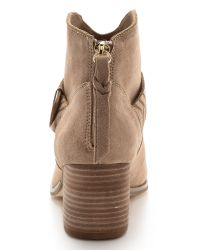Twelfth Street Cynthia Vincent Brown Dax Booties - Taupe