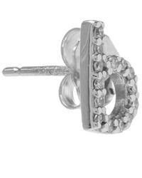 KC Designs | Metallic White Gold Diamond B Single Stud Earring | Lyst