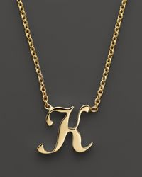 """Roberto Coin Metallic 18K Yellow Gold Letter Initial Pendant Necklace, 16"""""""