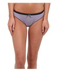 Emporio Armani - Purple Romantic Touch Stretch Cotton Contrast Details Brasilian Brief - Lyst