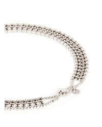 Philippe Audibert - Metallic 'lys' Flower Bead Choker Necklace - Lyst