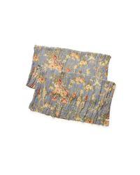 Denim & Supply Ralph Lauren - Gray Floral Cotton Scarf - Lyst