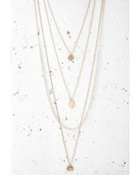 Forever 21 | Metallic Layered Charm Necklace Set | Lyst